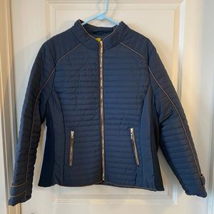 NWT Daisy Navy Quilted jacket, size 2X